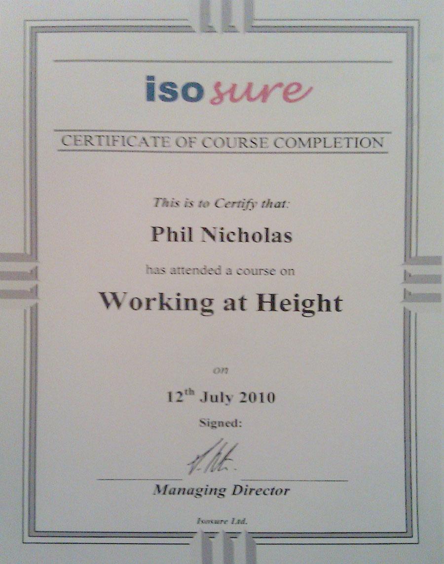 Certificate ISO Sure