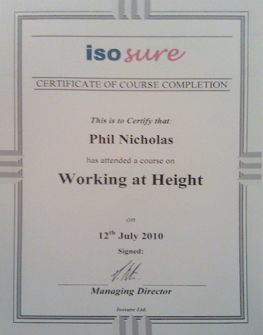 Certificate ISO Sure