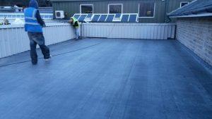 Portfolio - Rubber Flat Roof Installation